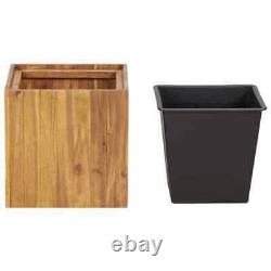 US Solid Acacia Wood Garden Planter Outdoor Flower Box Pot Holder Raised Bed