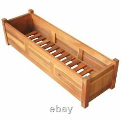 USA Solid Wooden Outdoor Raised Bed 39.4 Garden Flowers Plant Display Rack