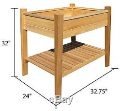 Unfinished Cedar Rot / Insect Proof Tall Raised Flower vegetable Garden Bed Kit