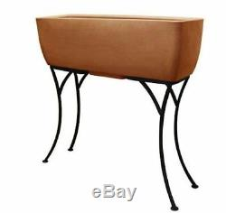 Urban Planter With Stand Size 30 X 10 Color Terra Cotta