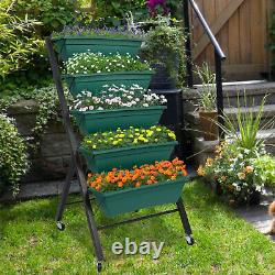 Vertical Garden Planter Box Outdoor Elevated Raised Bed for Herbs Vegetables