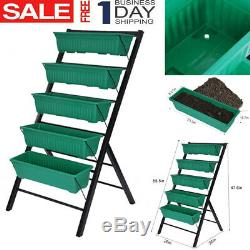 Vertical Herb Garden Planter Box Outdoor Elevated Raised Bed Vegetables Flowers
