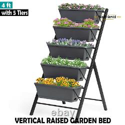 Vertical Raised Garden Bed Planter Box with 5 Tiers Grow Vegetable Flower stand