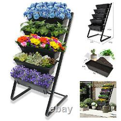Vertical Raised Garden Bed with 5 Self Watering Pots Elevated Freestanding Kit