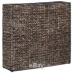 VidaXL Garden Raised Bed with 4 Pots Water Hyacinth Brown Planter Plant Box