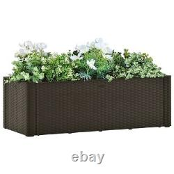VidaXL Garden Raised Bed with Self Watering System Planter Mocha/Anthracite