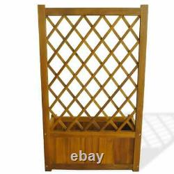 VidaXL Potted Climbing Plants Planter Raised Bed For Wood Holder Garden Display