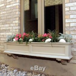 Window Box 11 in. X 60 in. Plastic Clay Finish with Sub-Irrigation Water System