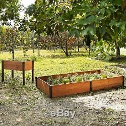 Wood Raised Garden Bed 40L x 20D x 29H in. Elevated Durable Strong Planter