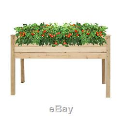 Wooden Garden Planter Raised Flower Bed Window Stand Elevated Vegetable Box Pot