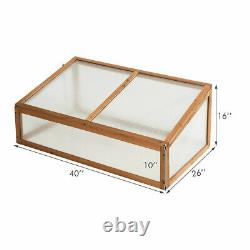 Wooden Greenhouse Raised Flower Planter Bed Garden Outdoor Patio Cold Frame New
