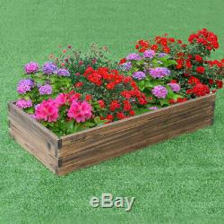 Wooden Raised Garden Bed Kit Elevated Planter Box For Growing Herbs, Vegetable