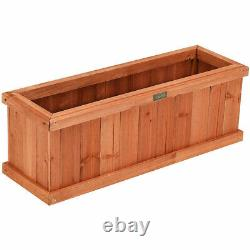 Wooden Raised Planter Box Garden Yard Window Bed Elevated Plant Outdoor Patio