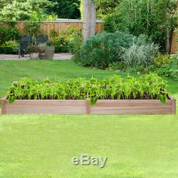 Wooden Vegetable Raised Garden Bed Backyard Patio Grow Flowers Plants Planter